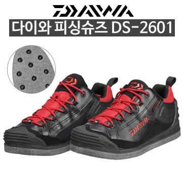 다이와 피싱슈즈 DS-2601 255 블랙/레드/인기상품